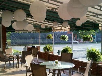 Glendale Lyceum paper lanterns porch patio sunporch wedding