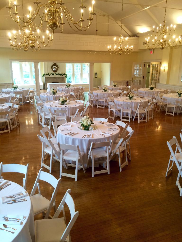 Glendale Lyceum white wedding ballroom